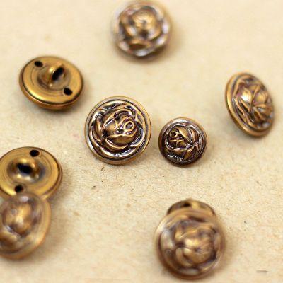 Knoop met roos - gouden metaal