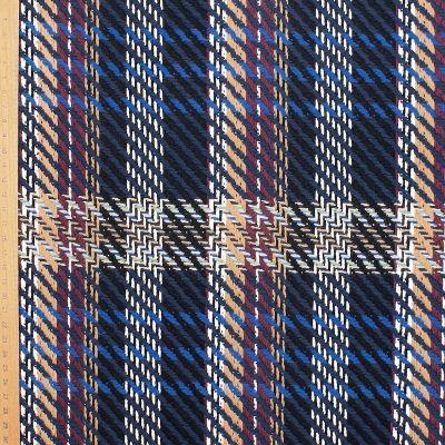 Checkered jacquard fabric - blue