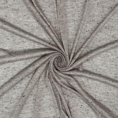 Tissu en jersey jaspé gris