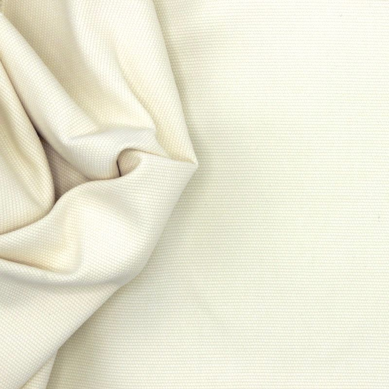 Tissu en coton uni vanille