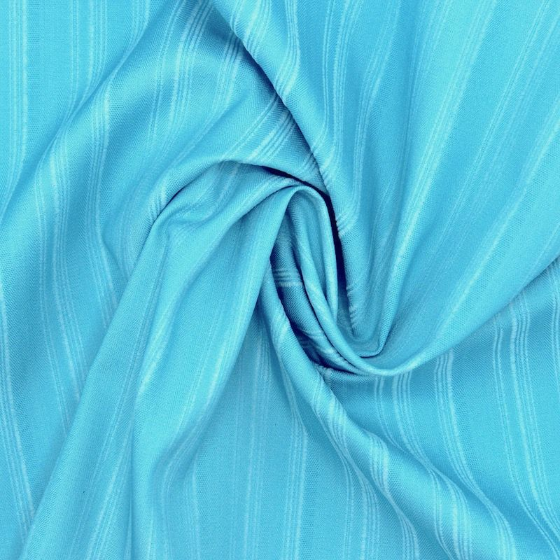 Extensible fabric with stripes - blue
