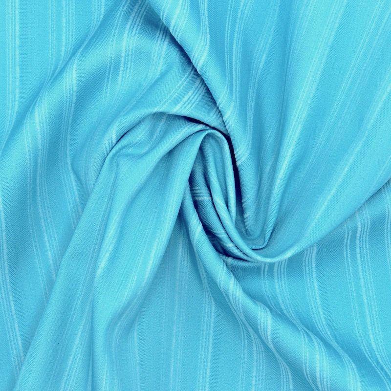 Rekbare stof met strepen - blauw