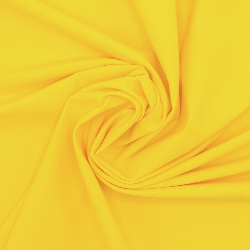 Rekbare stof type lycra - geel