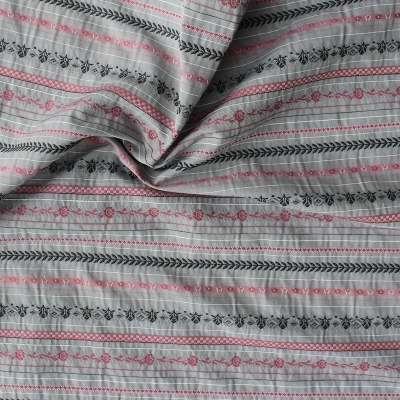 Red Cotton, polyester and viscose fabric