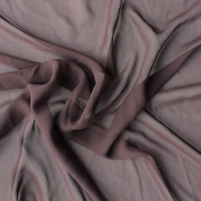 Georgette silk crepe brown