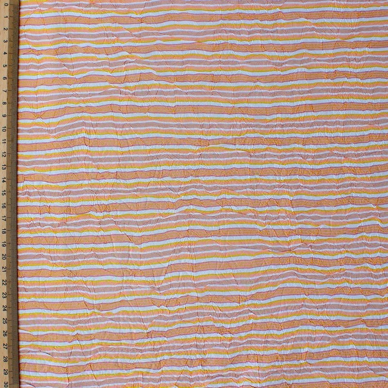 Tissu en polyester à lignes orange