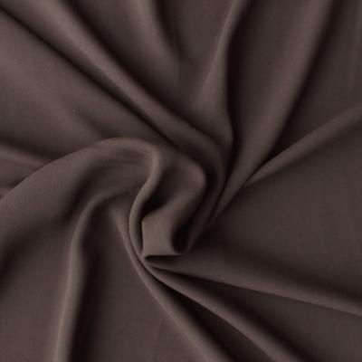 Soie crêpe Georgette unie brune