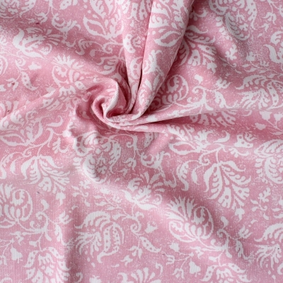 Velvet cotton fabric with Disney characters on kaki background