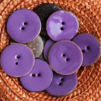 Purple coco button 3 cm