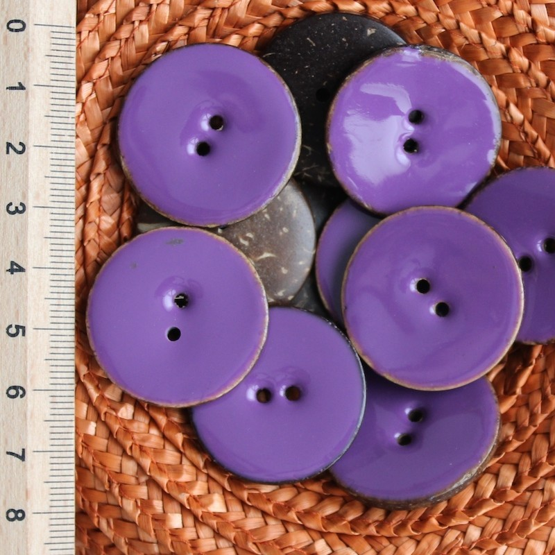 Paarse Koko Knoop 3 cm