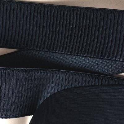 Ceinture élastique noire 6 cm