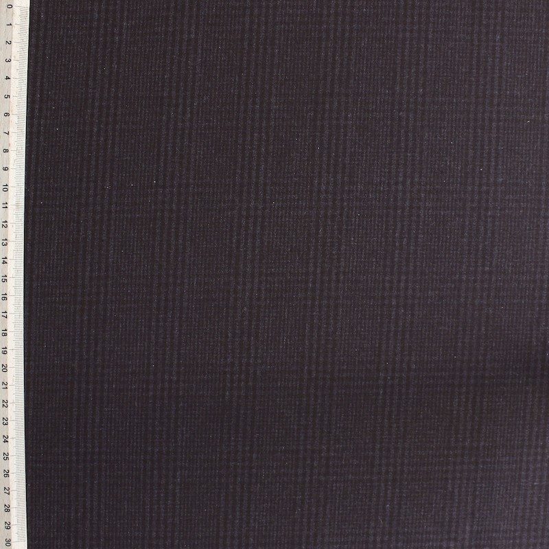 Tissu en coton polyester et lasthanne carreaux bruns - Teindre tissu polyester ...