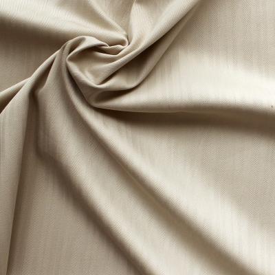 Emerised cotton with herringbone pattern - beige