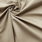 Beige cotton and elasthanne fabric