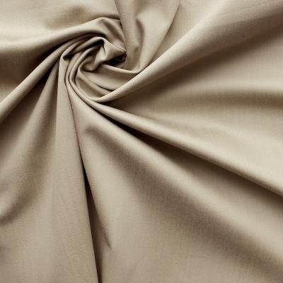 Beige katoen stof met elastaan