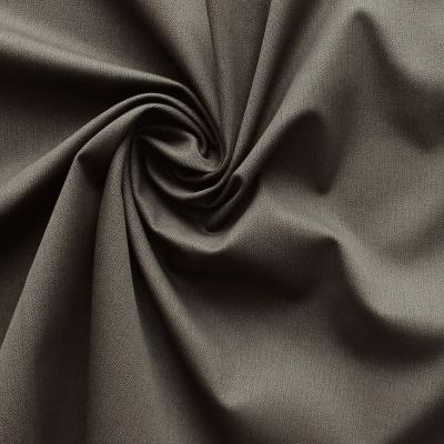 Tissu en coton et lycra sergé uni brun