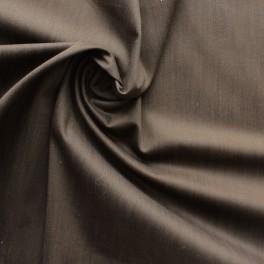Tissu en coton et élasthanne brun