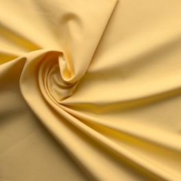 Tissu en coton, polyester et élasthanne jaune