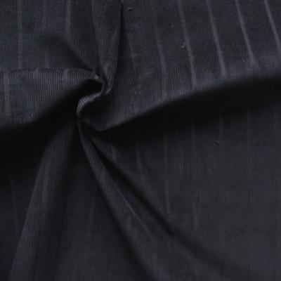 Tissu en velours côtelé noir