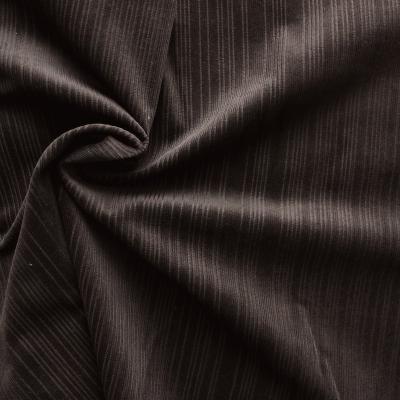 Tissu en velours côtelé brun