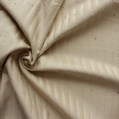 Tissu en velours côtelé beige