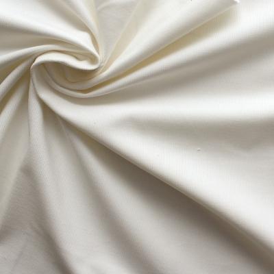 Tissu en velours côtelé blanc
