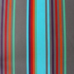 Rode, blauwe, bruine en oranje gestreepte dralon stof