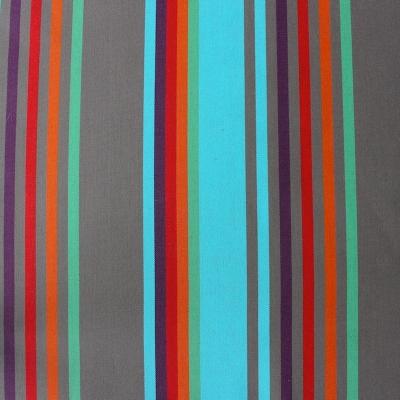 Toile transat à lignes brun, bleu, rouge et orange