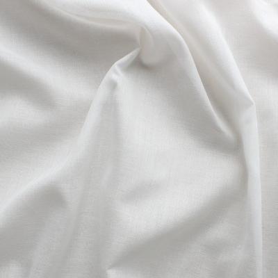 Tissu en voile en coton et polyester écru