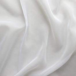 Tissu en voile polyester blanc