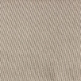Dark beige twill polyester and cotton fabric