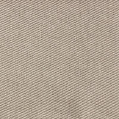Tissu en polyester et coton sergé uni beige foncé