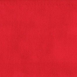 Red twill polyester and cotton fabric
