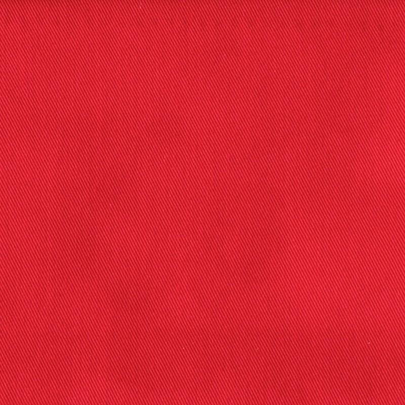 Tissu en polyester et coton serg uni rouge - Teindre tissu polyester ...
