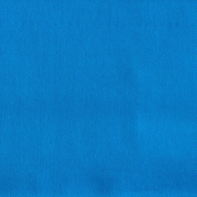 Blue Azur twill polyester and cotton fabric
