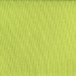 Pistachio green twill polyester and cotton fabric