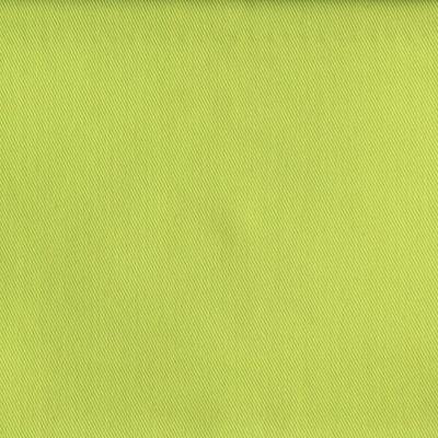 Tissu en polyester et coton sergé uni vert pistache