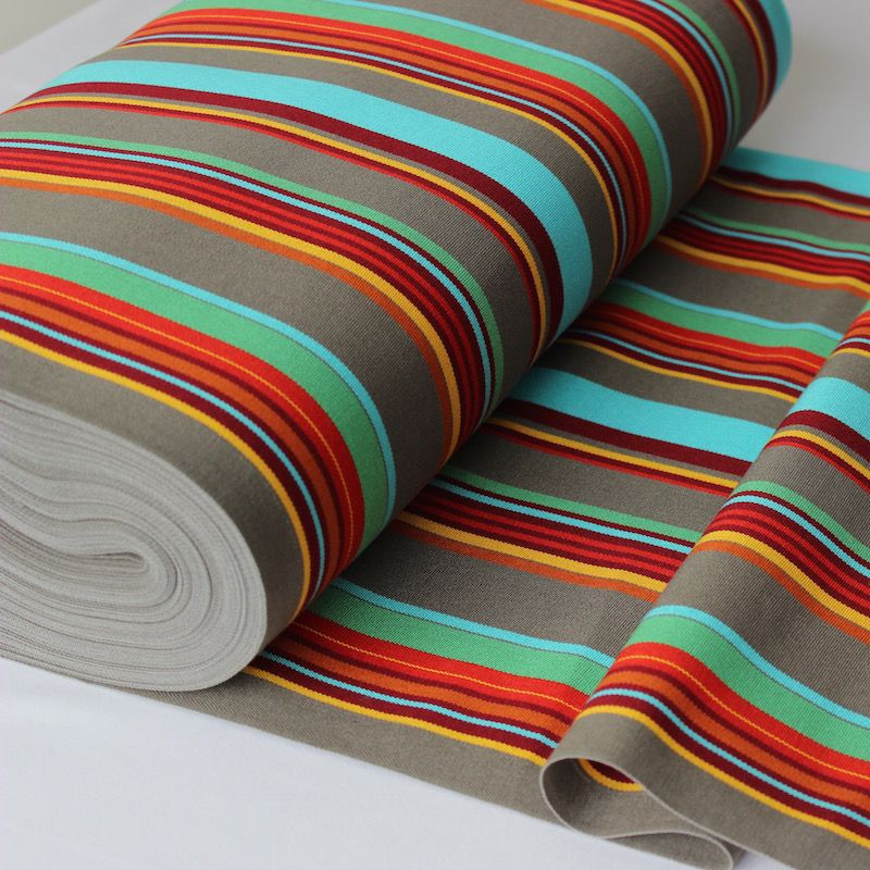 Toile transat en dralon rayé multicolore