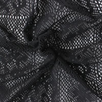 Gehaakte stof zwart