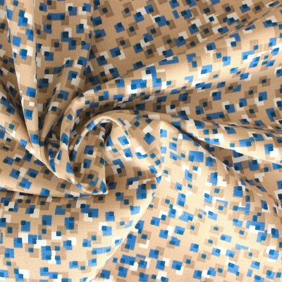 Tissu en coton à petits carreaux