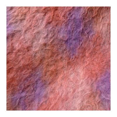 Imitiatiebont  met roze en paars lang haar
