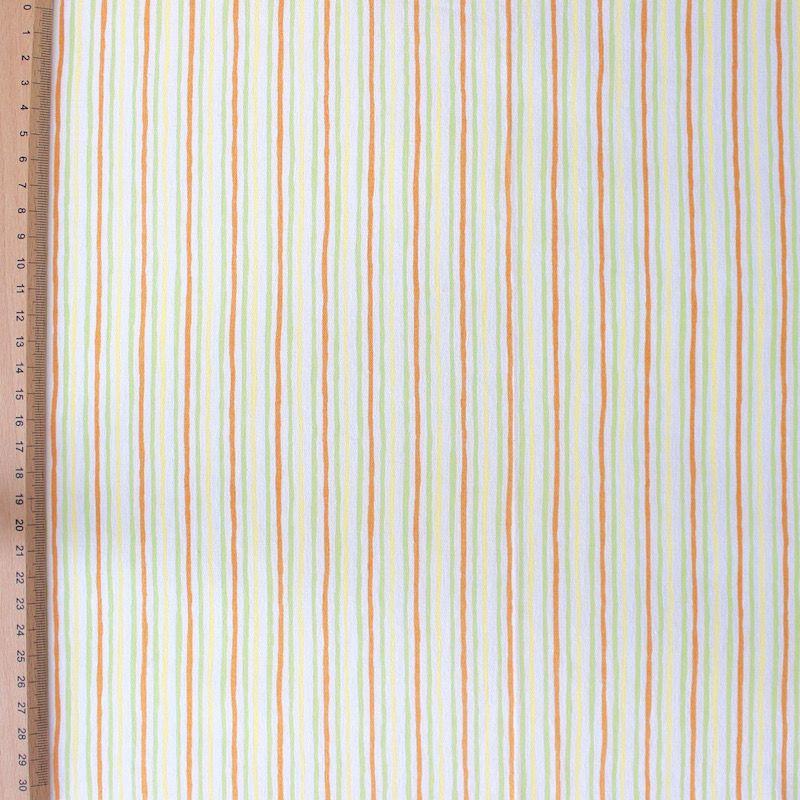 Yellow and white cotton fabric with squares