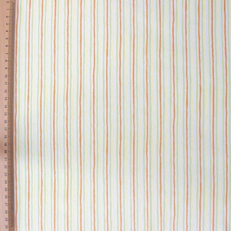 Katoen stof met strepen