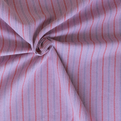 Cotton fabric with stripes