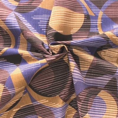 Tissu en coton à rayures