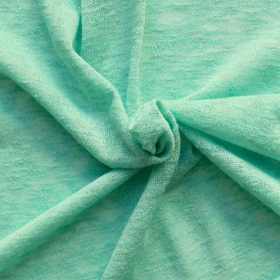 Tissu vestimentaire en maille chiné verte