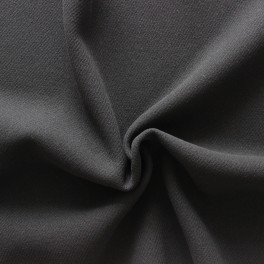 Tissu en laine et polyamide uni noir