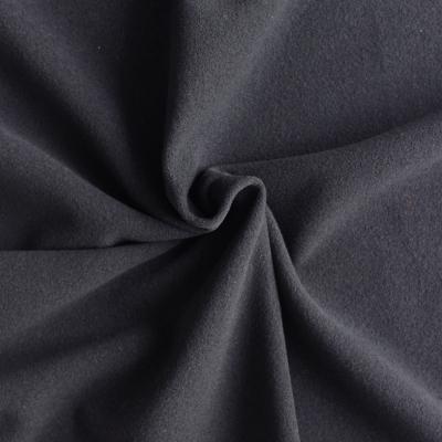 Zwart wol en polyamide stof