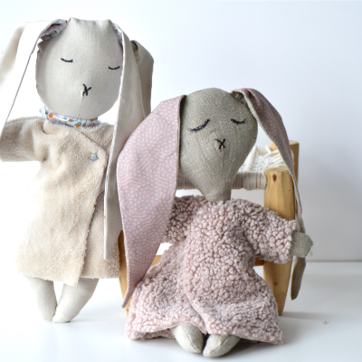 tuto coudre une poupée lapin
